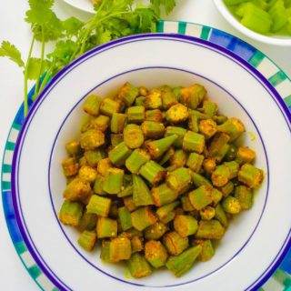 Okra Sabzi-Bhindi-Lady's Finger Curry